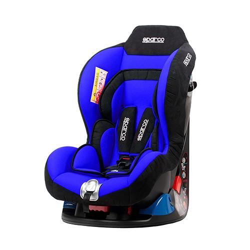 Fotelik samochodowy, F5000K 0-18 kg niebieski Sparco