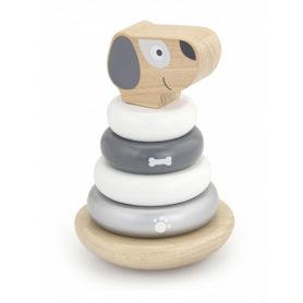 Drewniana wańka wstańka pies Viga