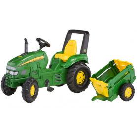 Traktor na pedały John Deere z przyczepką