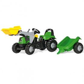 Traktor na pedały Deutz-Fahr Kid z przyczepką