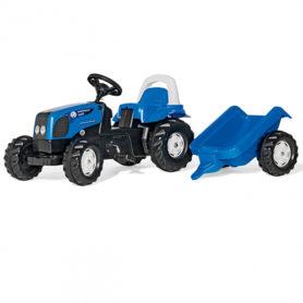 Traktor na pedały Kid Landini z przyczepką