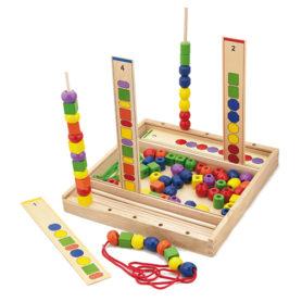 Gra edukacyjna Logiczne koraliki 104 elementy Viga