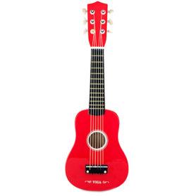 Drewniana Gitara 21 cali 6 strun dla dzieci czerwona Viga