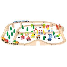 Drewniana Stacja kolejowa 90 elementów Viga