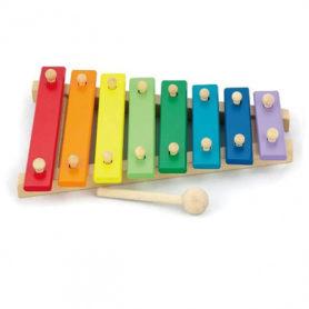 Drewniane Cymbałki Dzwonki Chromatyczne Kolorowe Viga Toys