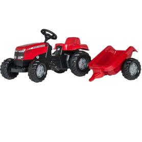Traktor Massey Ferguson przyczepka na pedały rollyKid Rolly Toys