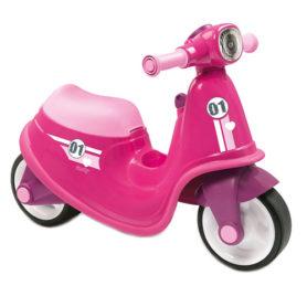Jeździk skuter biegowy różowy Smoby