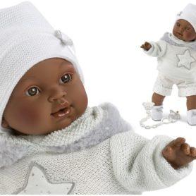 Lalka Sirham chłopiec w sweterku płacze 38 cm