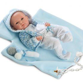 Lalka Pipo bobas chłopiec w bluzie z kapturem 35 cm