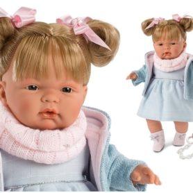 Lalka Joelle w niebieskiej sukience płacze 38 cm