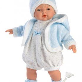 Lalka Roberto chłopiec w czapce płacze 33 cm