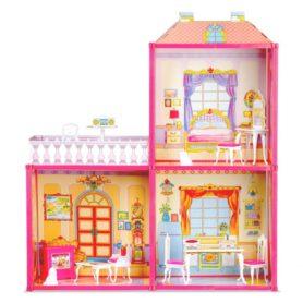 Duży domek dla lalek z mebelkami