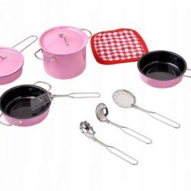 Akcesoria kuchenne metalowe różowe dla dzieci