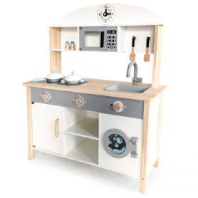 Drewniana kuchnia z pralką dla dzieci ECOTOYS