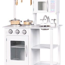 Drewniana kuchnia biała dla dzieci Ecotoys