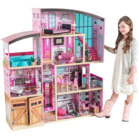 Drewniany domek Shimmer Mansio dla lalek Kidkraft