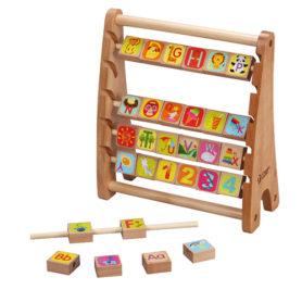Liczydło edukacyjne z literkami drewniane Classic World