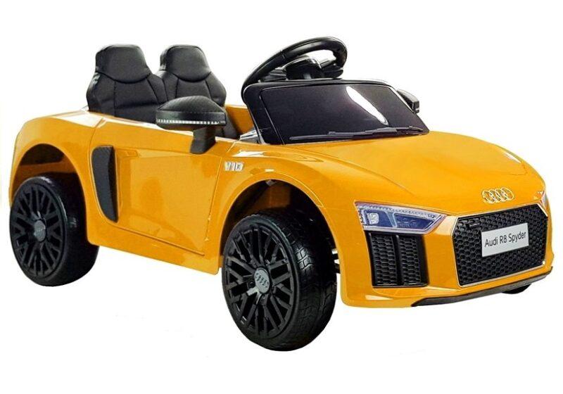 Audi R8 na Akumulator Żółty, baby-zone.pl