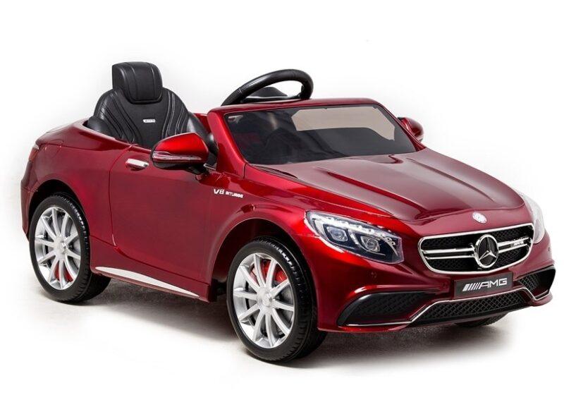 Mercedes S63 na Akumulator Czerwony Lakierowany, baby-zone.pl