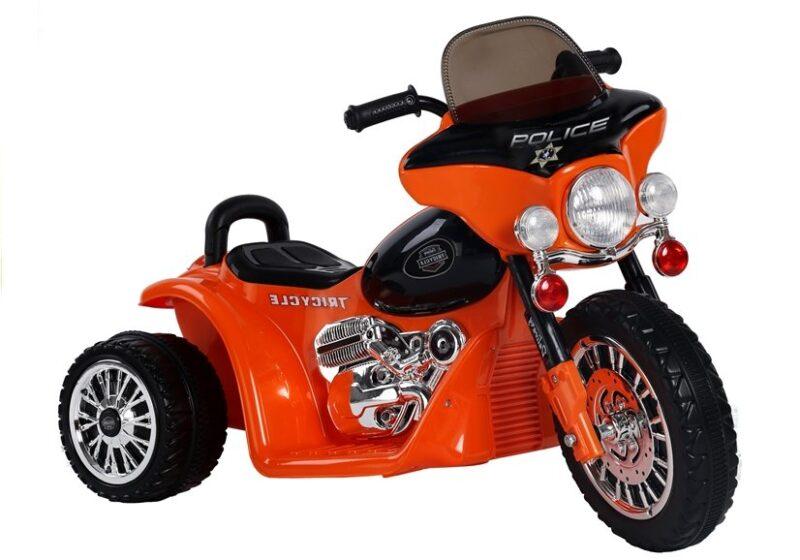 Motor Trójkołowy Tricycle na Akumulator Pomarańczowy