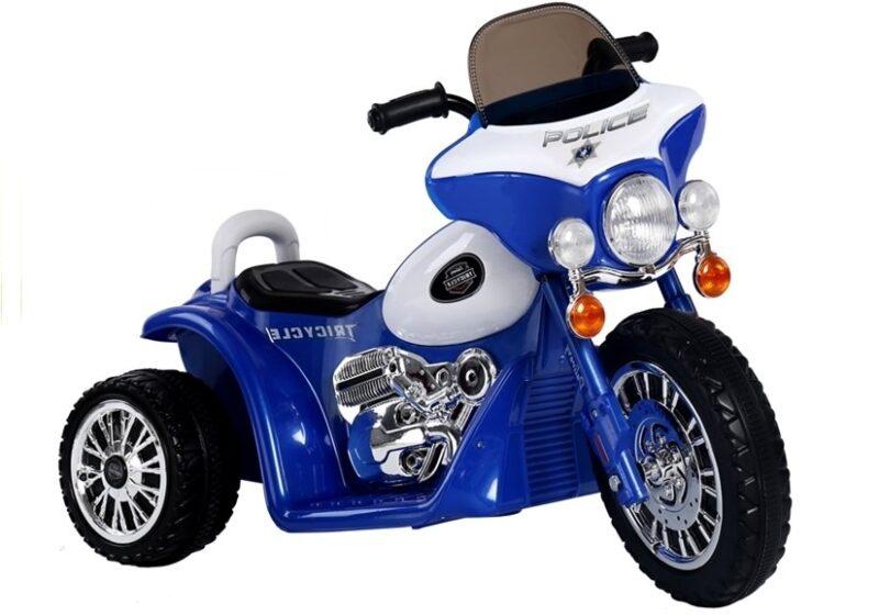 Motor Trójkołowy Tricycle na Akumulator Niebieski