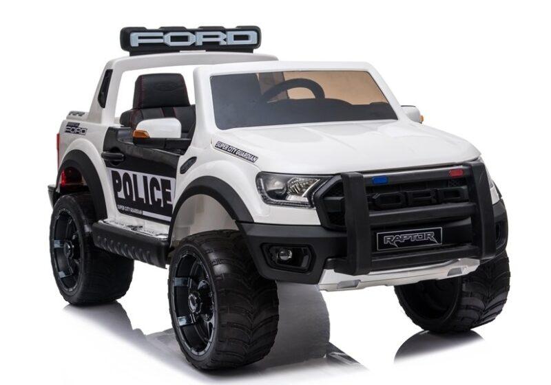 Ford Ranger Raptor Police na Akumulator Biały Lakier, baby-zone.pl