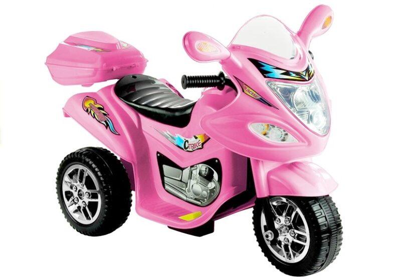 Motor Trójkołowy na akumulator Różowy