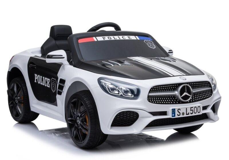 Mercedes SL500 Policja na Akumulator Biały