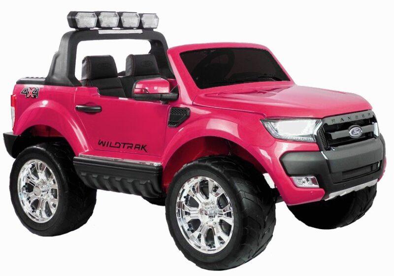 Ford Wildtrak 4x4 na akumulator lakierowany Różowy