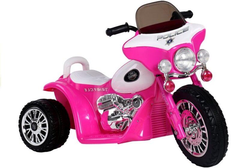 Motor Trójkołowy Tricycle na Akumulator Ciemno różowy