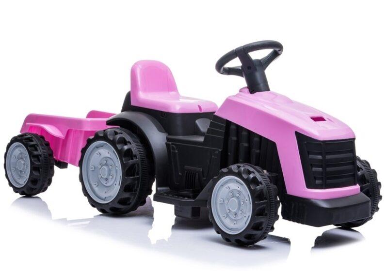 Traktor z Przyczepą na Akumulator Różowy
