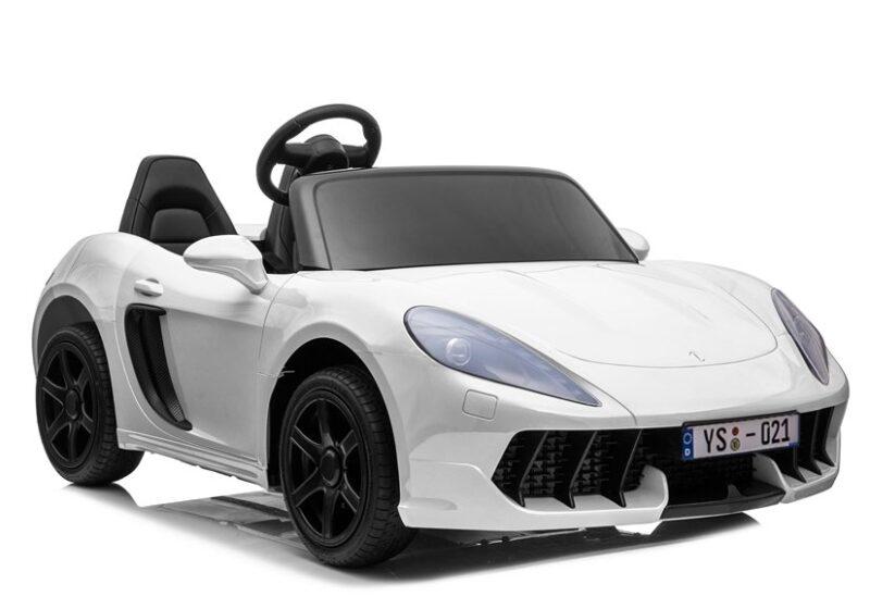 Sportowy Samochód na akumulator 24V Biały, baby-zone.pl