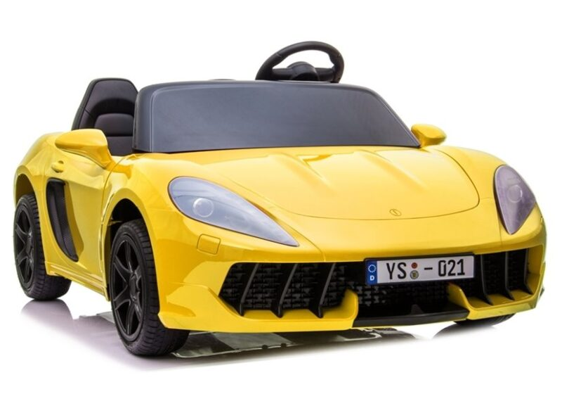 Sportowy Samochód na akumulator 24V Żółty Lakierowany