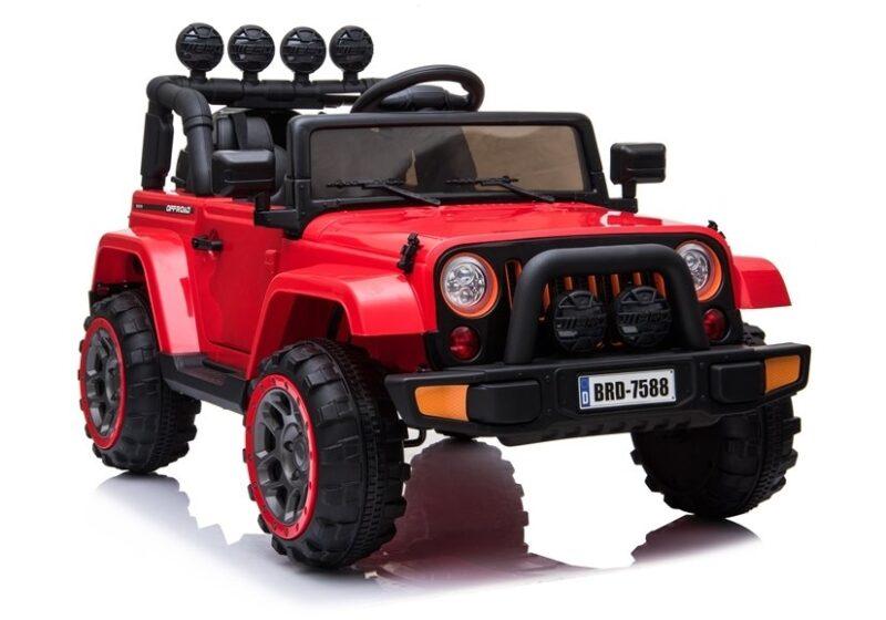 Jeep na Akumulator 4x4 Czerwony- baby-zone.pl