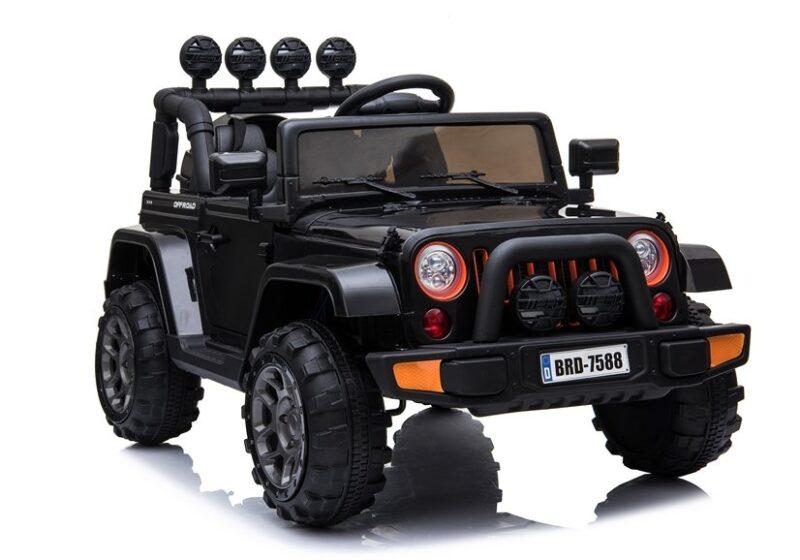 Jeep na Akumulator 4x4 Czarny- baby-zone.pl
