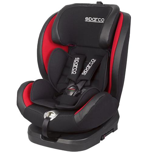 Fotelik samochodowy, SK600 Obrót 360° Isofix 0-36 kg Czerwony Sparco, baby-zone.pl