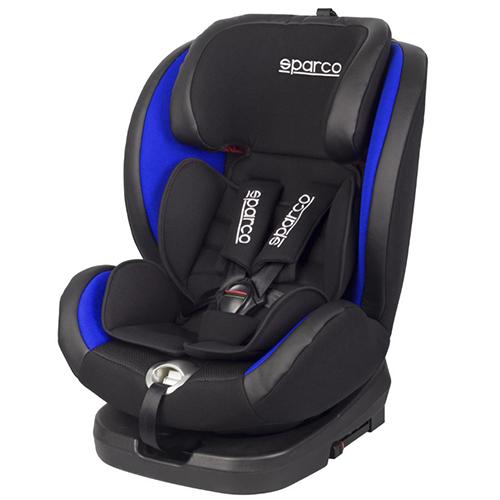 Fotelik samochodowy, SK600 Obrót 360° Isofix 0-36 kg niebieski Sparco, baby-zone.pl