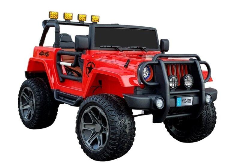 Jeep na Akumulator WXE-168 Czerwony, baby-zone.pl