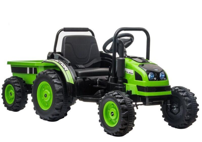 Traktor na Akumulator z Przyczepą HL38 Zielony, baby-zone.pl