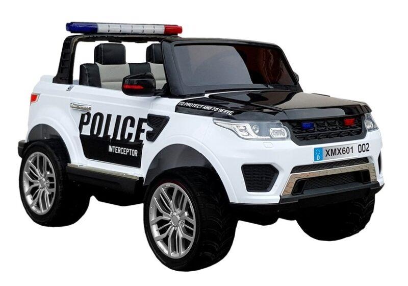 Jeep na Akumulator Policyjne Biały, baby-zone.pl